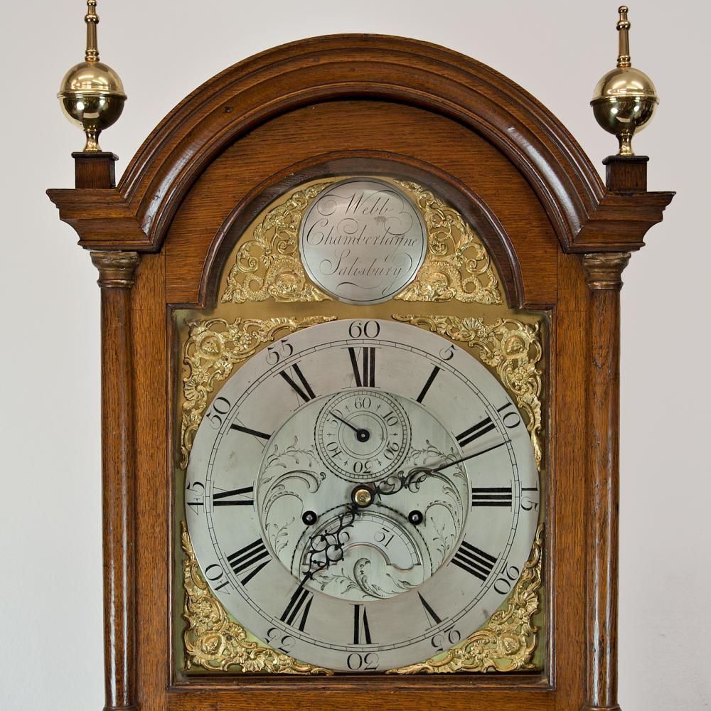 from Dominick dating brass dial longcase clocks