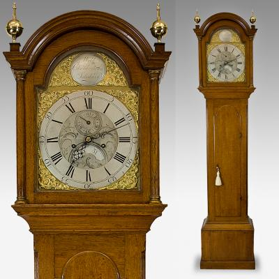 Antique 8 day Brass dial longcase clock