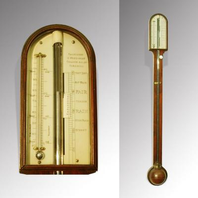 Antique Rosewood Stick Barometer by Parkinson & Frodsham