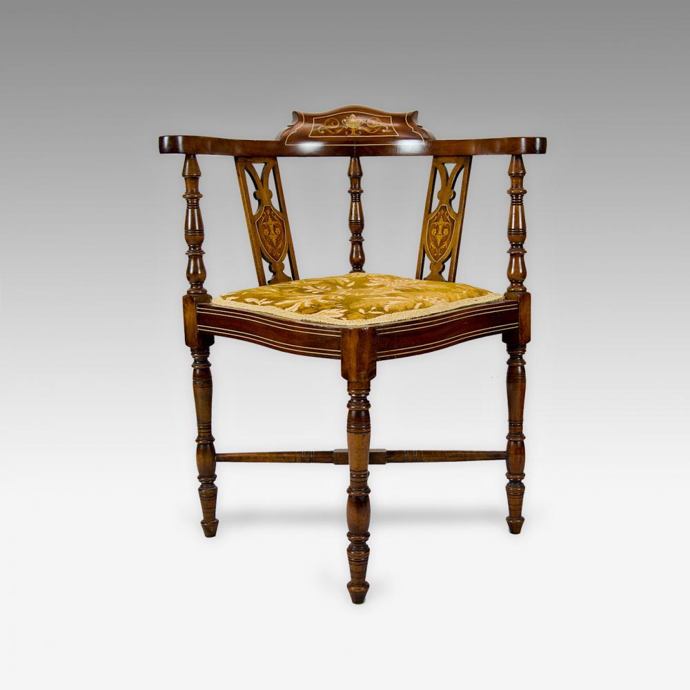 edwardian corner chair antique furniture