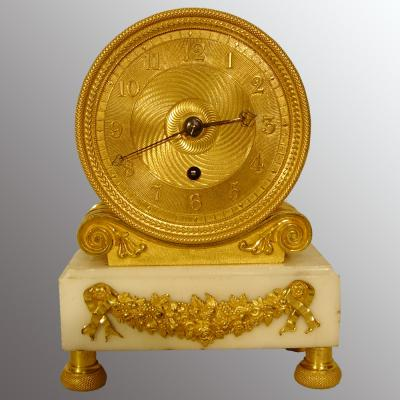 English Fusee Mantle Clock