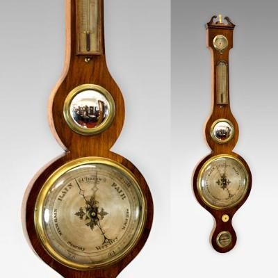Five dial Georgian wheel barometer