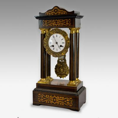 French 8 day Portico clock