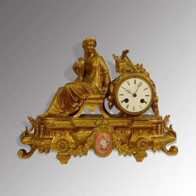 French strike mantle clock