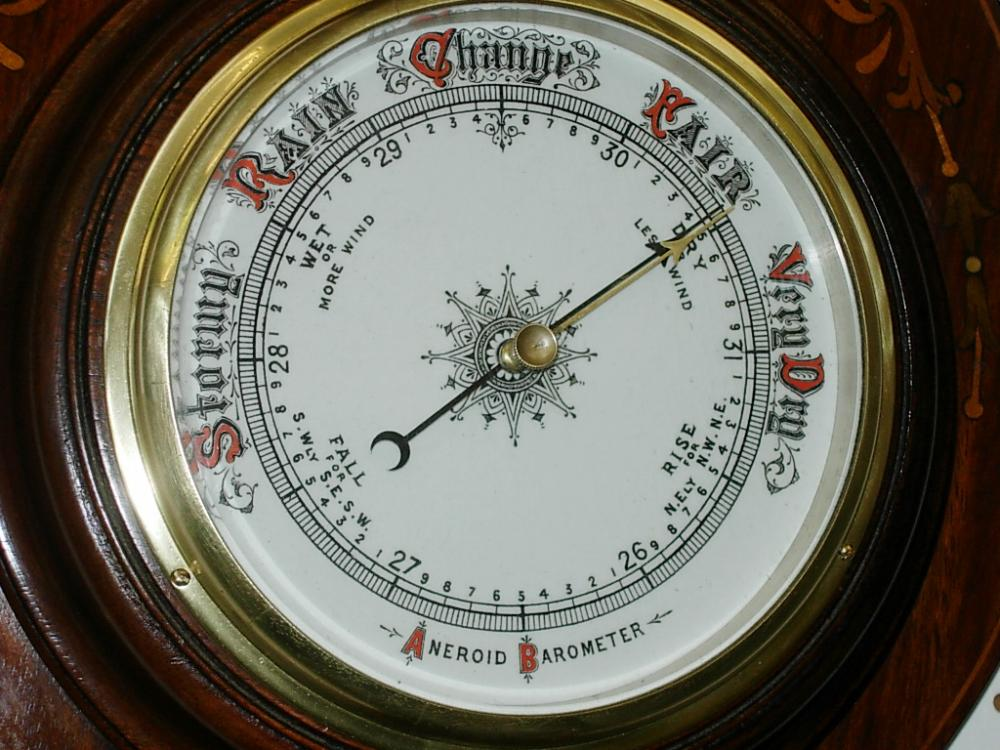 Inlaid Aneroid Barometer Barometers