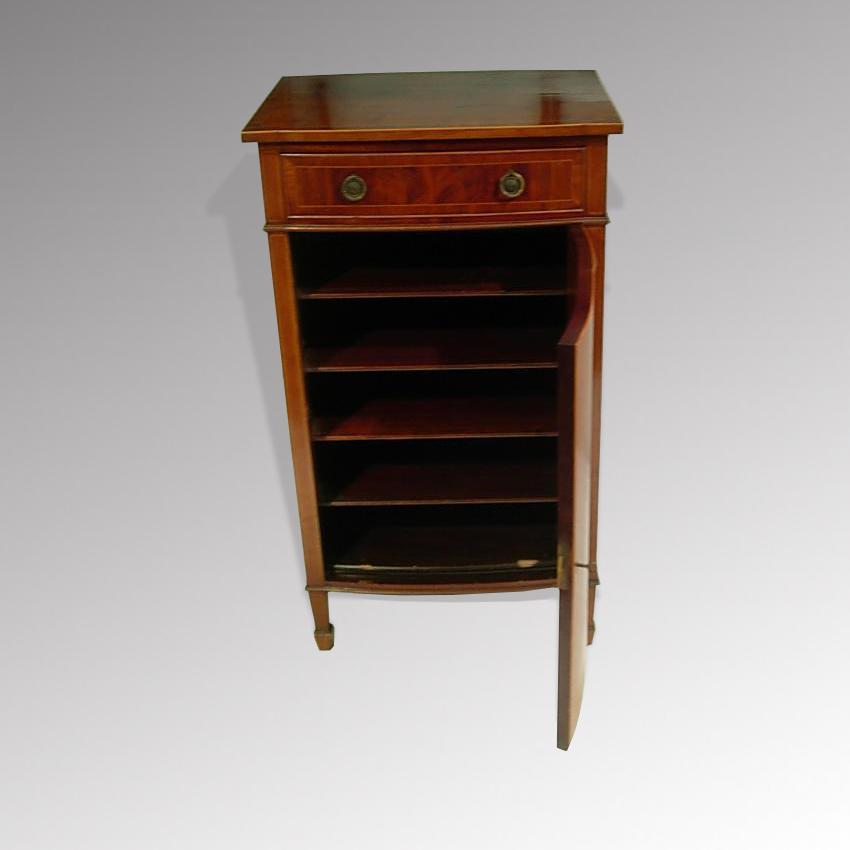 Charmant Mahogany Music Cabinet