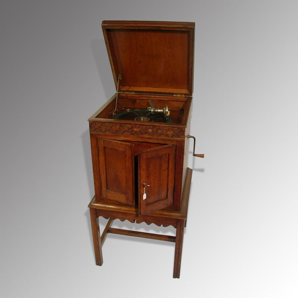 Oak Gramophone Cabinet - Oak Gramophone Cabinet - Antique Furniture