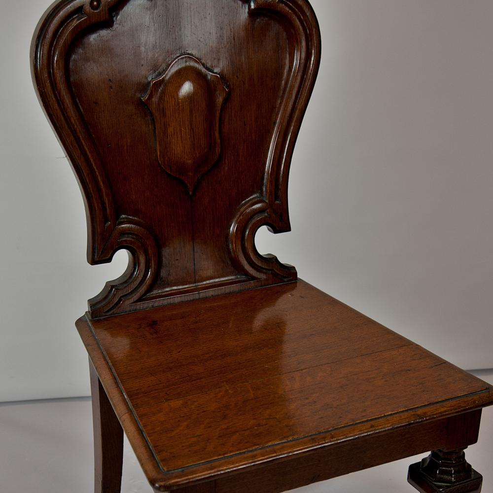 Oak Hall Chair Antique Furniture
