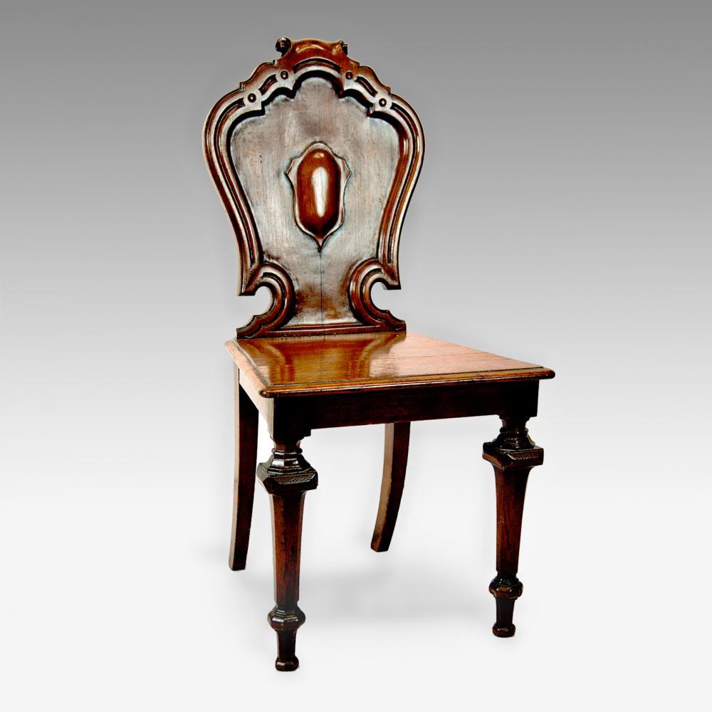 Antique Foyer Chair : Oak hall chair antique furniture