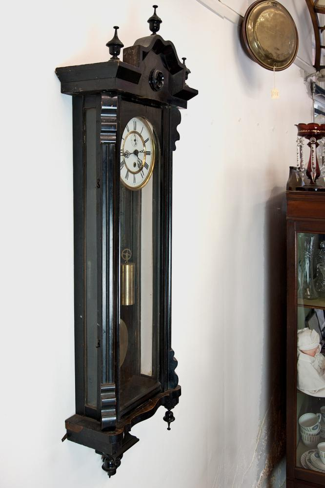 "Timepiece ""Vienna Regulator"" weight driven wall clock - Antique Clocks"